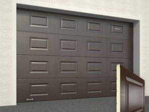 Ворота гаражные секционные Doorhan (8014 коричневый)