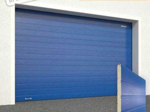 Ворота гаражные секционные Doorhan (5005 синий)