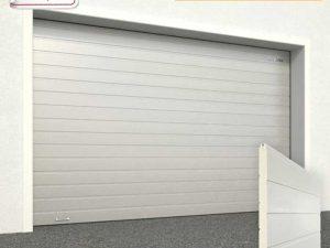 Ворота гаражные секционные Doorhan (9006 серебро)