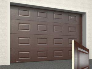Ворота гаражные секционные Doorhan (8017 шоколад)