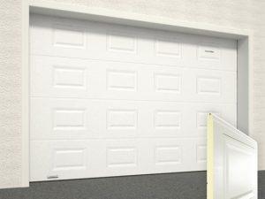 Ворота гаражные секционные Doorhan (9003 белый)