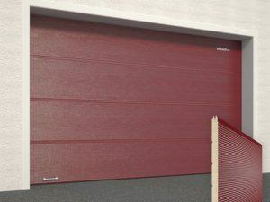 Ворота гаражные секционные Doorhan (3005 бордовый)