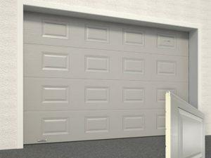 Ворота гаражные секционные Doorhan (7004 серый)