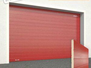 Ворота гаражные секционные Doorhan (3000 красный)
