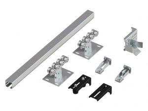 Система роликов и направляющих для балки х/к