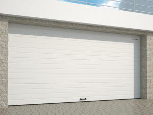 Гаражные ворота из алюминиевых панелей с торсионным механизмом rsd02alu